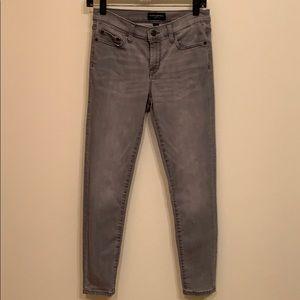 Banana Republic sculpt skinny gray jeans.